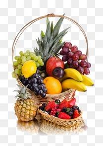 水果手绘3d素材  精美水果篮