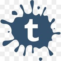 社会媒体污点集tumblr创造性的污点图标设置