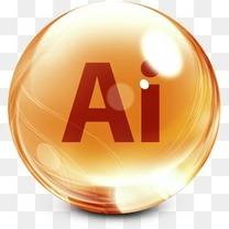 人工智能Adobe CS玻璃停靠图标