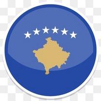 科索沃平圆世界国旗图标集