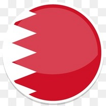 巴林平圆世界国旗图标集