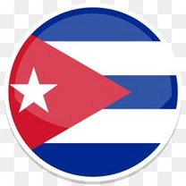 古巴平圆世界国旗图标集