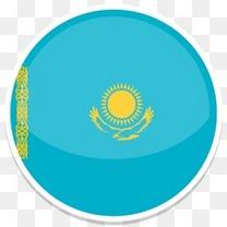 哈萨克斯坦平圆世界国旗图标集