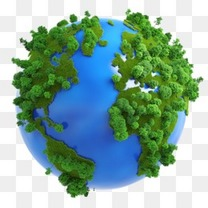 创意地球卡通地球图片素材 环保绿色地球