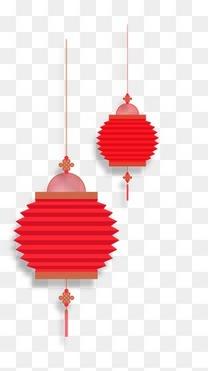 两个红色灯笼