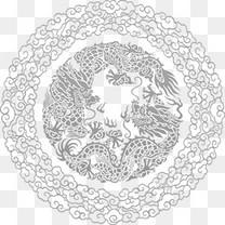 中国风复古风镂空花纹底纹装饰