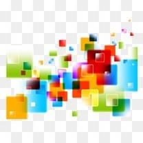 抽象炫彩几何彩色块
