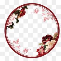 唯美中国风复古扇屏
