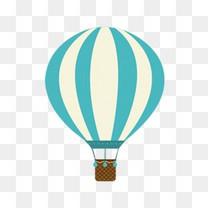 扁平卡通热气球升气球