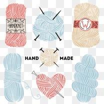 毛线 矢量图 生活针织