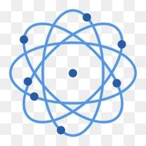 蓝色几何化学科技元素