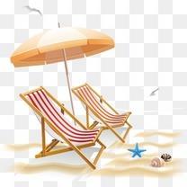 夏季海边度假素材