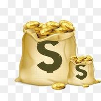 金融理财贷款金币钱袋子
