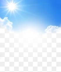 太阳蓝天白云天空素材