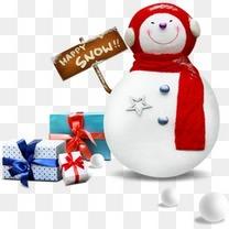 淘宝素材,圣诞节素材,圣诞雪人,礼品盒