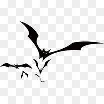 万圣节蝙蝠剪影
