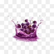 创意水花中的葡萄