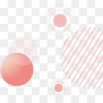 粉色圆点漂浮