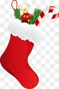 红色长筒圣诞袜礼物