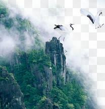 仙鹤,山水,淘宝素材,山水配景