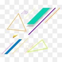 几何斜线不规则多边形