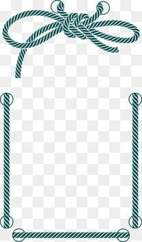 绳子边框装饰