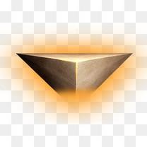 金色立体悬浮