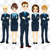 商务职场人物矢量素材免费下载