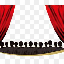 红布舞台观众