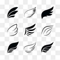 黑色白色翅膀