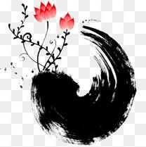 中国风水墨花