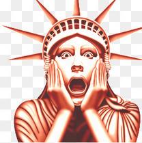 金色自由女神像