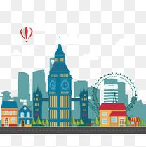 扁平化城市风景