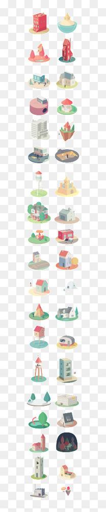 卡通立体房子合集