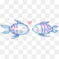 童话水墨手绘鱼