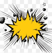 爆炸款框涂鸦元素