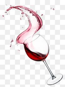 酒水红酒飞溅高脚杯