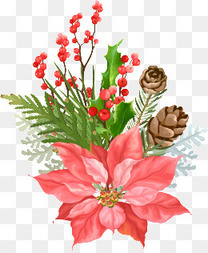 节日彩绘花