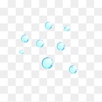 蓝色水晶漂浮装饰
