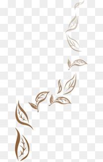 咖啡色渐变渐隐叶子剪影