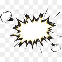 卡通漫画爆炸云对话框