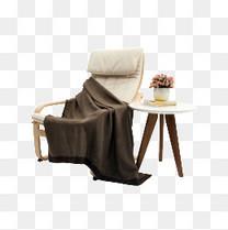 躺椅和桌子