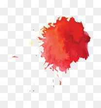 红色墨点墨迹水墨中国风