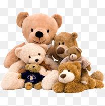 一堆毛绒玩具熊