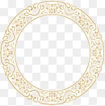 中国风圆形边框纹理