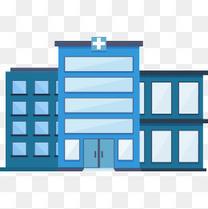 医院扁平矢量素材