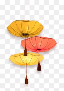 中秋节海报元素灯笼花灯