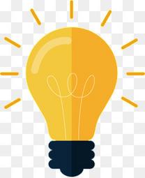 黄色商务灯泡