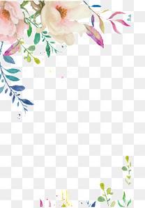 手绘花边框