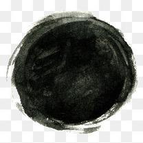 圆形水墨效果
